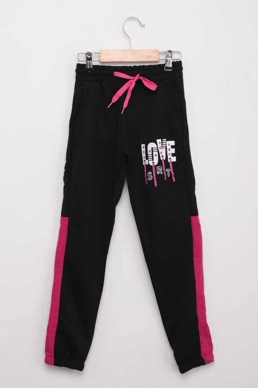 SRT - Спортивные штаны с принтом Love/чёрный