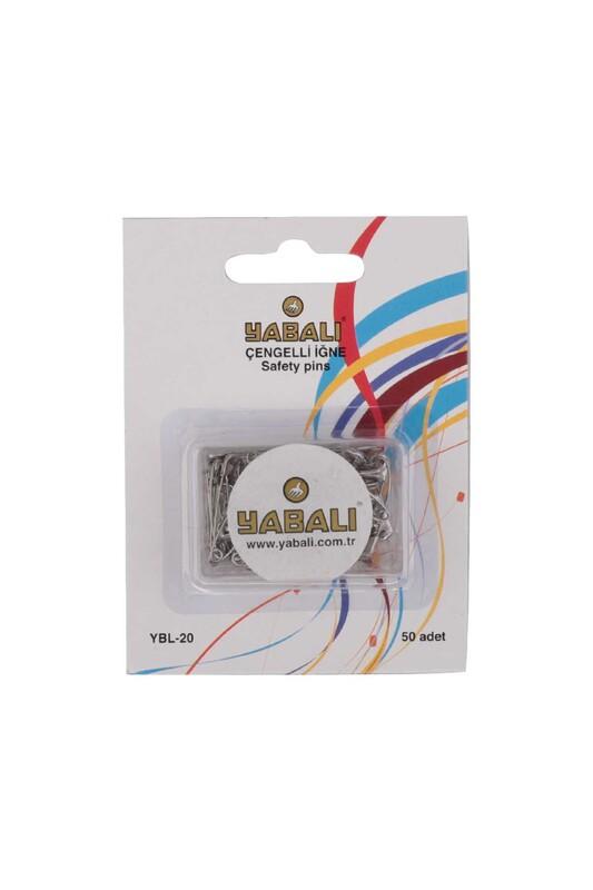 YABALI - Булавки YBL-20 50 шт./серебряный