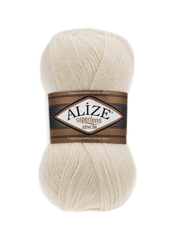 Alize - Alize Superlana Zincir El Örgü İpi Krem 001