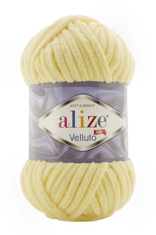 Alize - Alize Velluto El Örgü İpi 100 gr | Açık Sarı 013