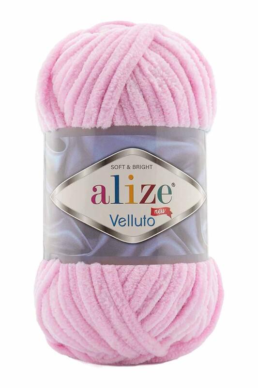 Alize - Alize Velluto El Örgü İpi 100 gr | Bebe Pembe 031