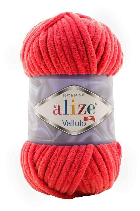 Alize - Alize Velluto El Örgü İpi 100 gr | Kırmızı 056