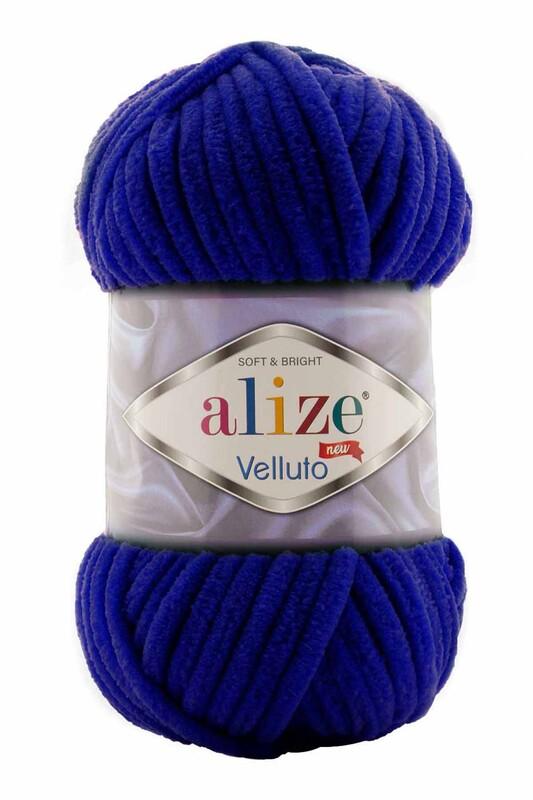 Alize - Alize Velluto El Örgü İpi 100 gr | Lacivert 360