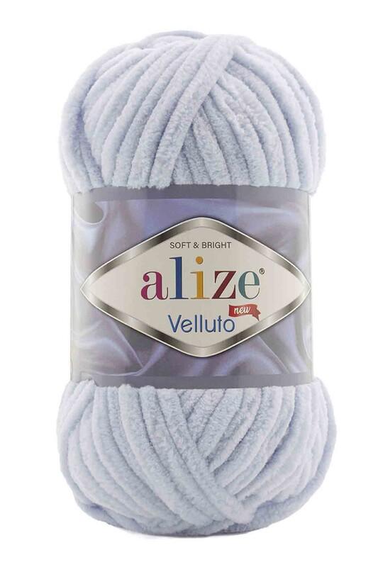 Alize - Alize Velluto El Örgü İpi 100 gr | Gri 416