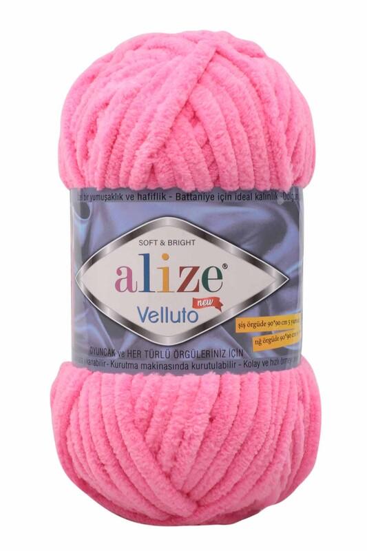 Alize - Alize Velluto El Örgü İpi 100 gr | Pembe 721