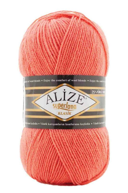 Alize - Alize Superlana Klasik El Örgü İpi Mercan 619