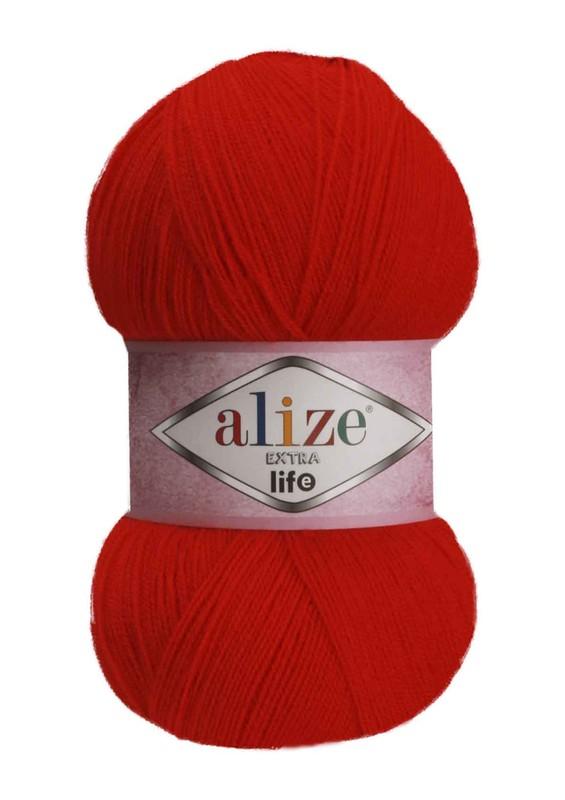 Alize - Alize Extra Life El Örgü İpi Kırmızı 926