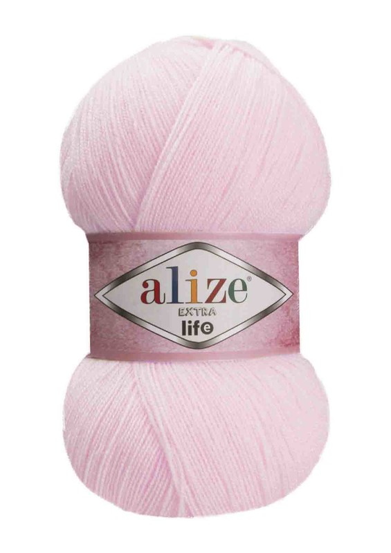 Alize - Alize Extra Life El Örgü İpi Pudra Pembe 929