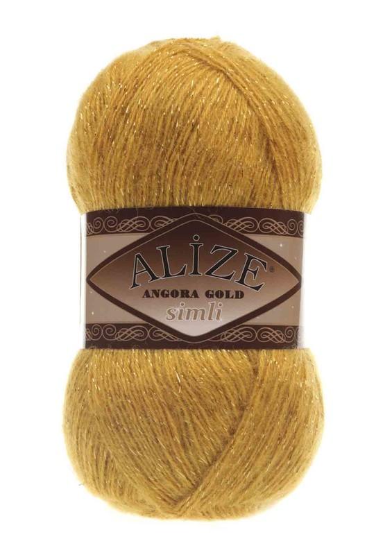 Alize - Alize Angora Gold Simli El Örgü İpi Safran 002