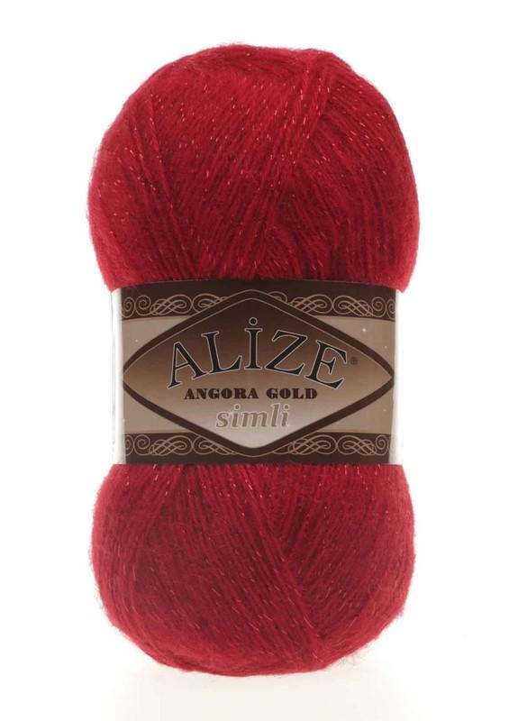 Alize - Alize Angora Gold Simli El Örgü İpi Kırmızı 106