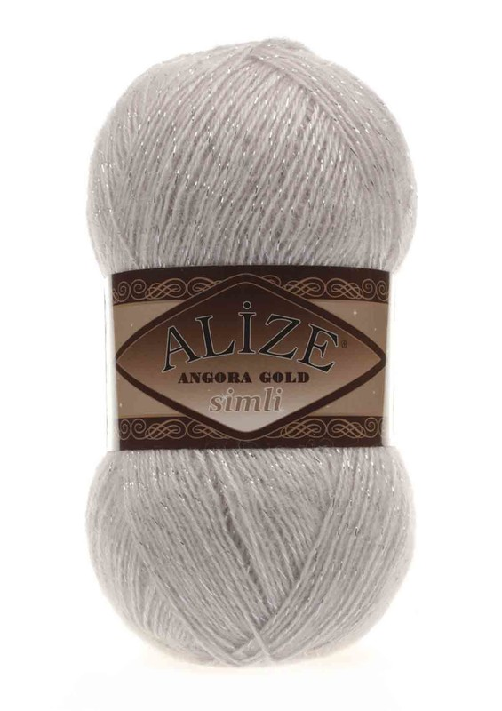Alize - Alize Angora Gold Simli El Örgü İpi Kış Beyazı 168