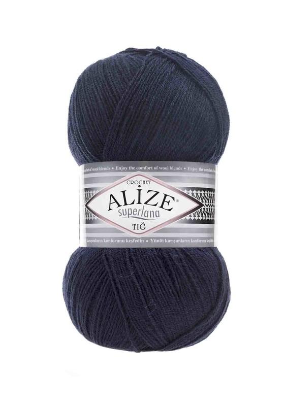 Alize - Alize Superlana Tığ El Örgü İpi Lacivert 058