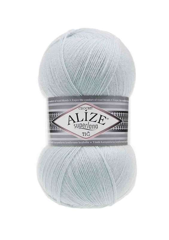 Alize - Alize Superlana Tığ El Örgü İpi Buz Mavisi 514