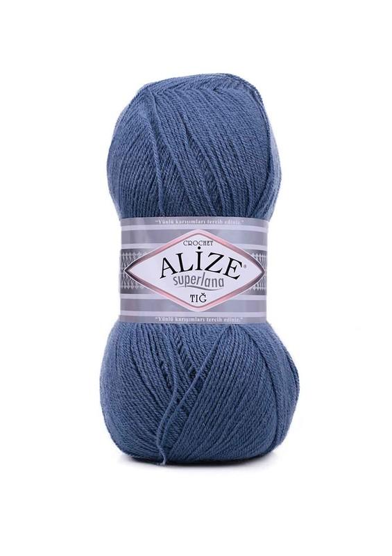 Alize - Alize Superlana Tığ El Örgü İpi Mavi 498