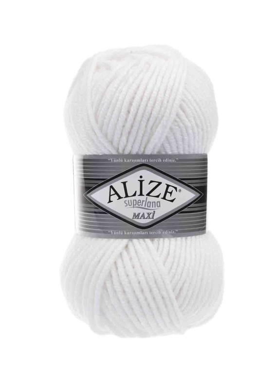 Alize - Alize Superlana Maxi El Örgü İpi Beyaz 055