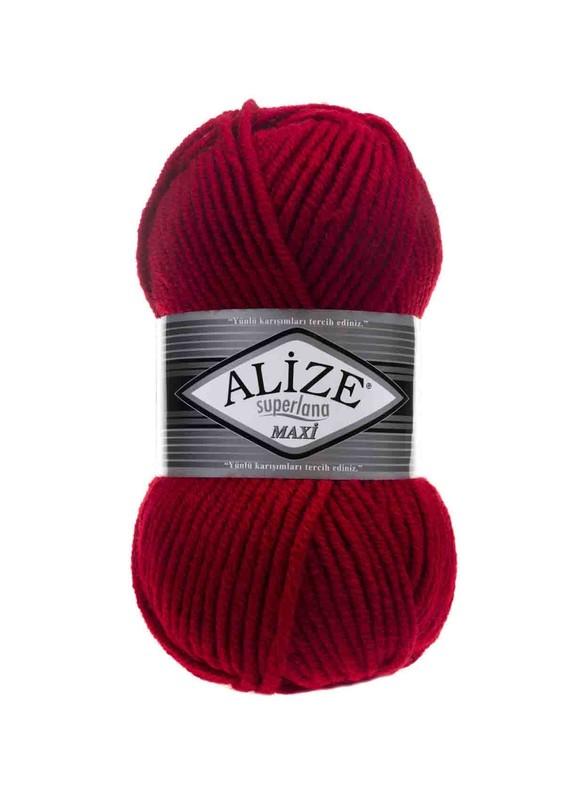 Alize - Alize Superlana Maxi El Örgü İpi Kırmızı 056