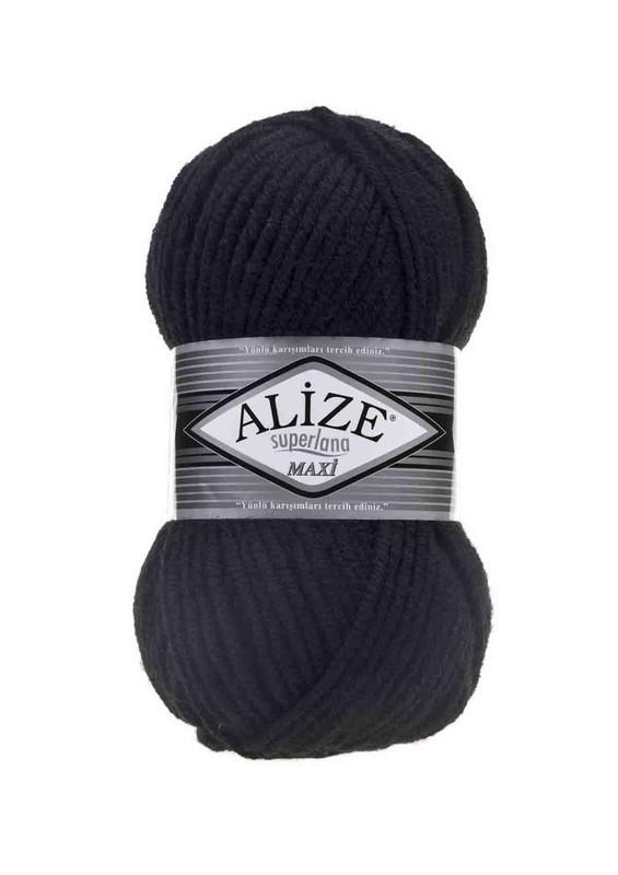 Alize - Alize Superlana Maxi El Örgü İpi Siyah 060