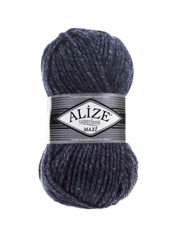 Alize - Alize Superlana Maxi El Örgü İpi Jaspe Lacivert 805