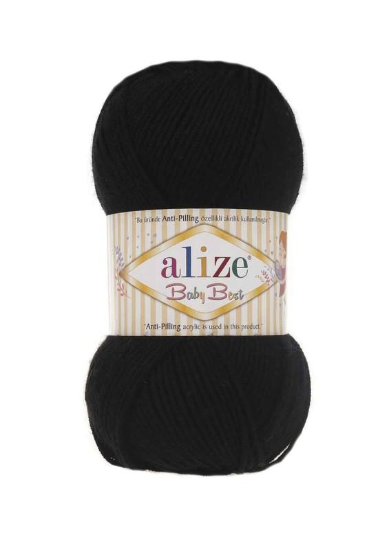 Alize - Alize Baby Best El Örgü ipi Siyah 060