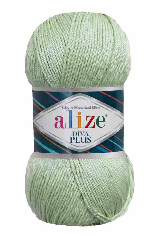 Alize - Alize Diva Plus El Örgü İpi Nil Yeşili 375