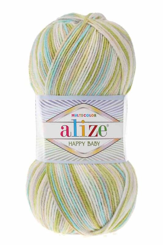 Alize - Alize Happy Baby Multicolor El Örgü İpi 52236
