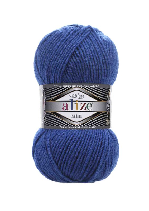 Alize - Alize Superlana Midi El Örgü İpi Saks Mavi 141