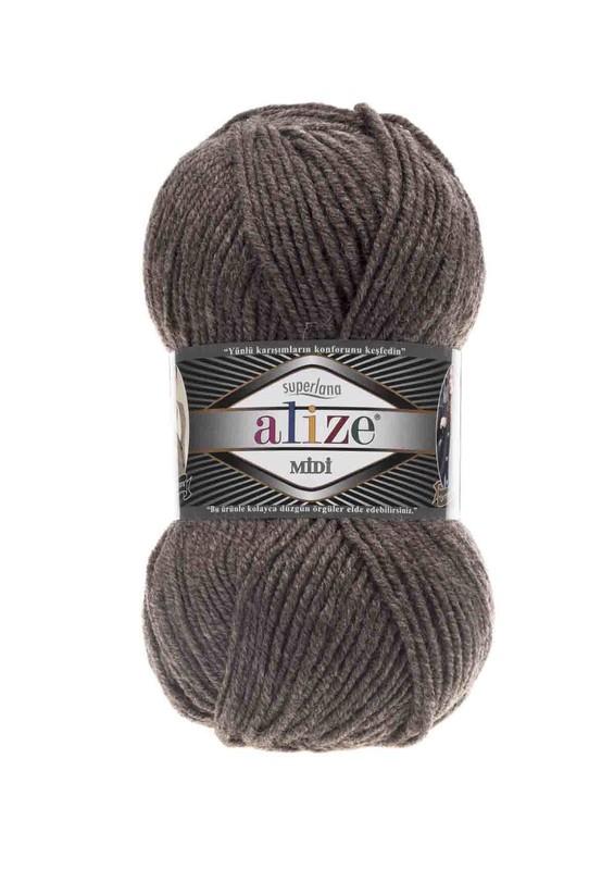 Alize - Alize Superlana Midi El Örgü İpi Sütlü Kahve Melanj 240