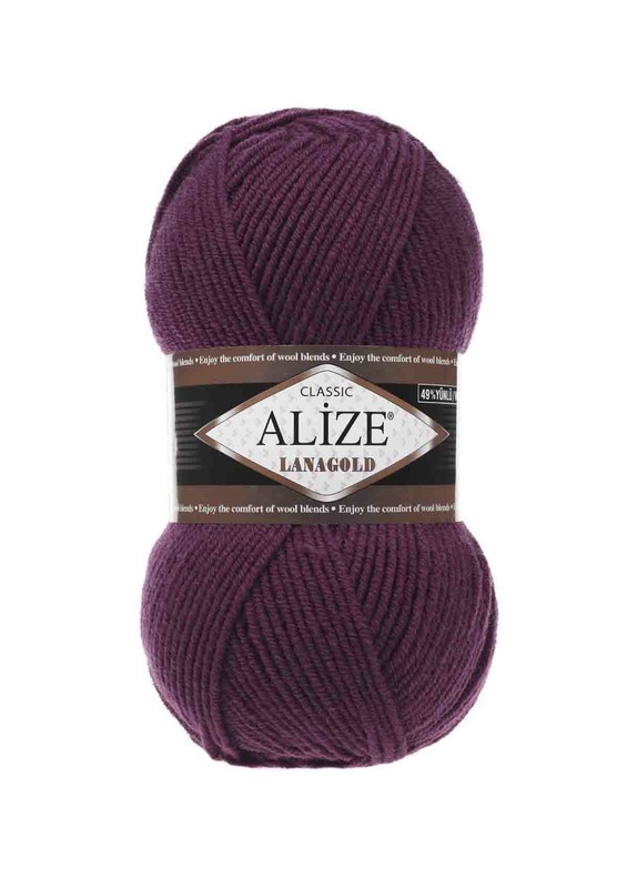 Alize - Alize Lanagold El Örgü İpi Mürdüm 307