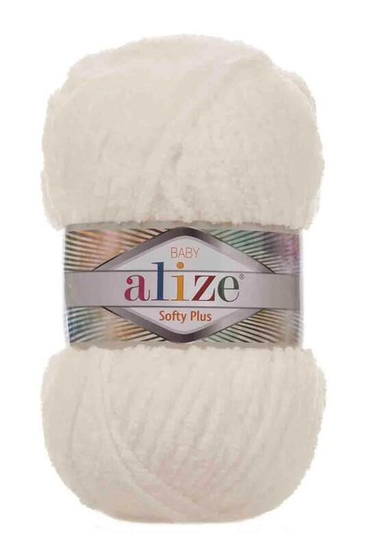 Alize - Alize Softy Plus El Örgü İpi Açık Krem 062