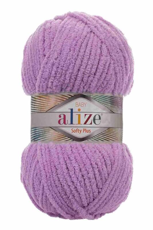 Alize - Alize Softy Plus El Örgü İpi Erguvan 047
