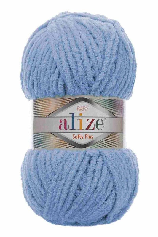 Alize - Alize Softy Plus El Örgü İpi Mavi 112