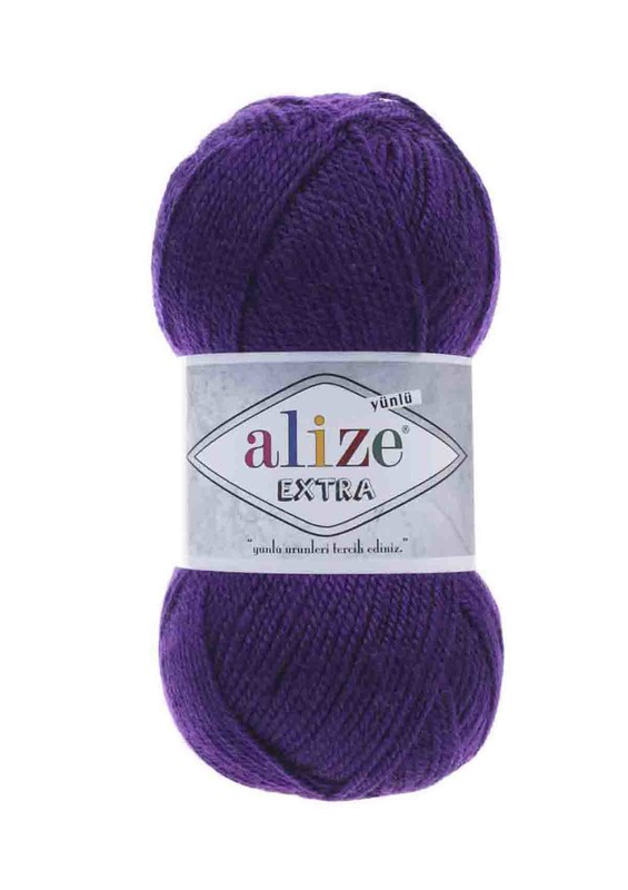 Alize - Alize Extra El Örgü İpi Mor 074