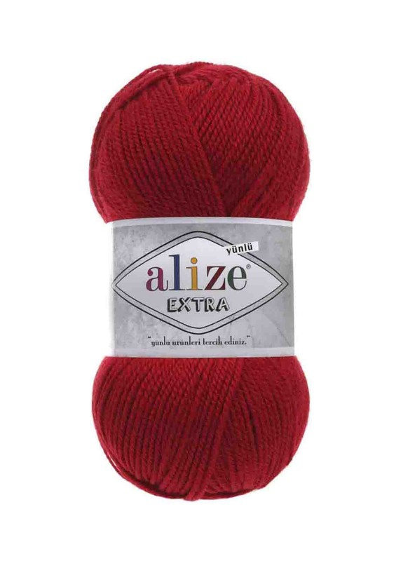 Alize - Alize Extra El Örgü İpi Koyu Kırmızı 106