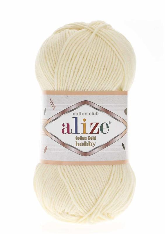 Alize - Alize Cotton Gold Hobby El Örgü İpi 50 gr Krem 001