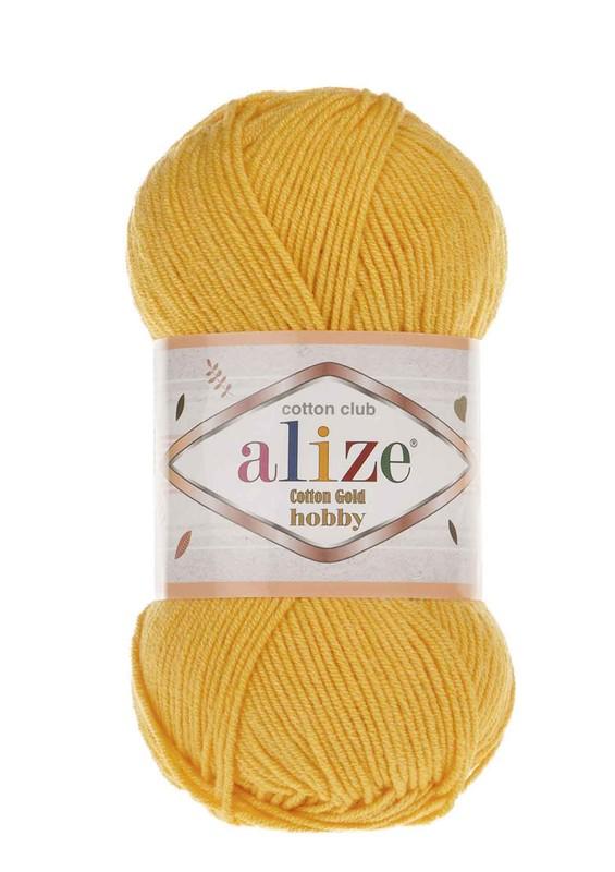 Alize - Alize Cotton Gold Hobby El Örgü İpi 50 gr Koyu Sarı 216