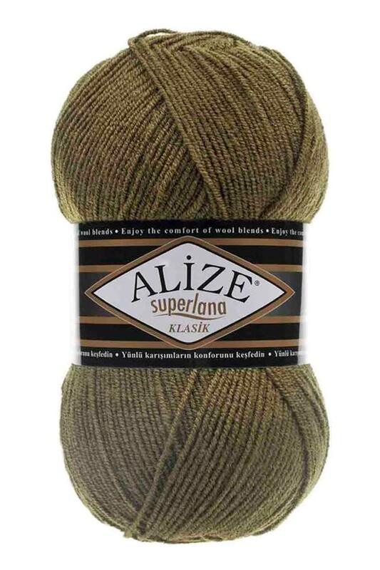 Alize - Alize Superlana Klasik El Örgü İpi Haki 345