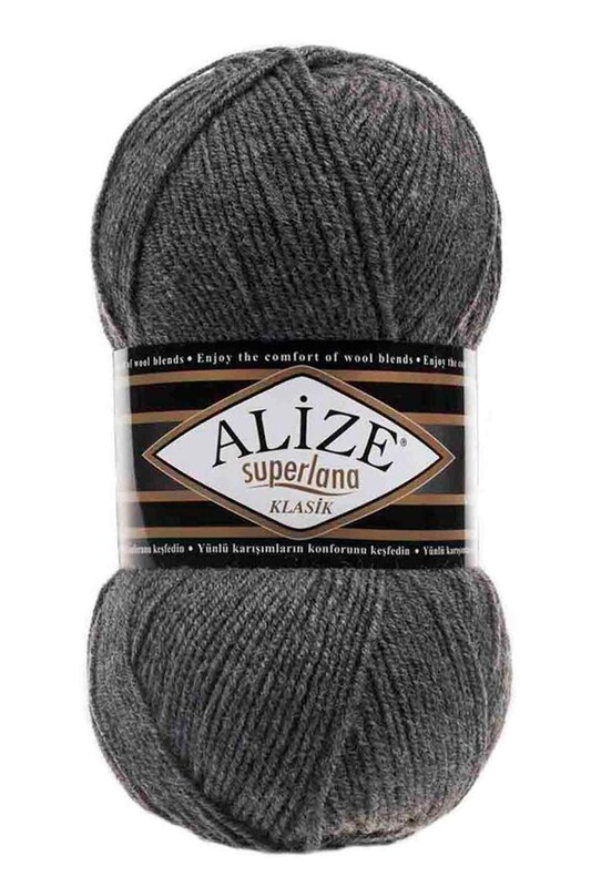 Alize - Alize Superlana Klasik El Örgü İpi Orta Gri Melanj 182