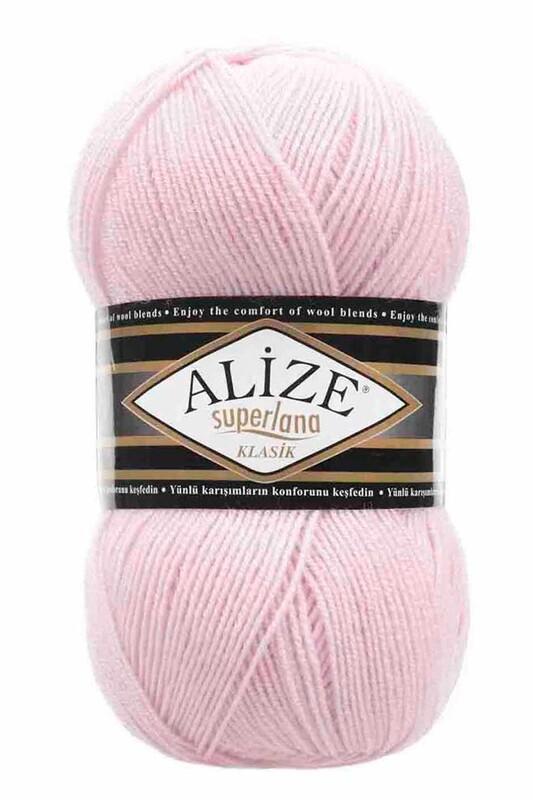 Alize - Alize Superlana Klasik El Örgü İpi Pudra Pembe 518