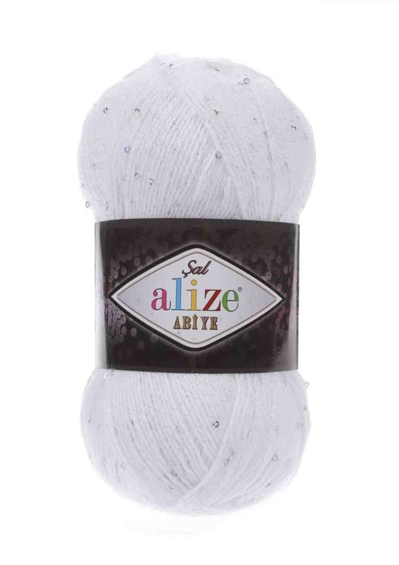 Alize - Alize Şal Abiye El Örgü İpi Beyaz 055