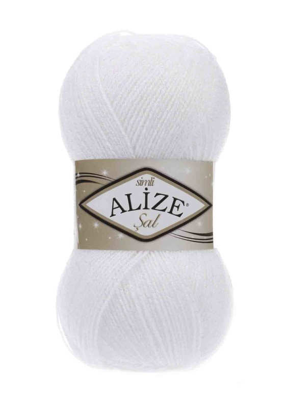 Alize - Alize Şal Sim El Örgü İpi Beyaz 055