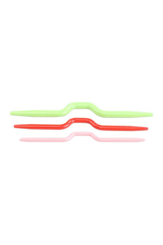 MİR PLASTİK - Plastik Saç Örgü İğnesi 3'lü