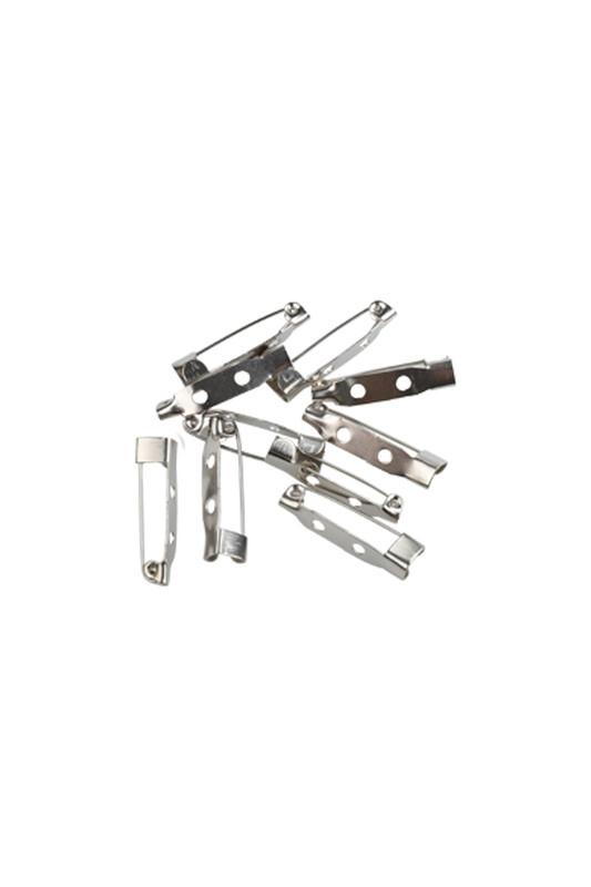 MİR PLASTİK - Broş İğnesi 2,5 cm 10 Adet | Gümüş