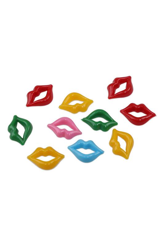 MİR PLASTİK - Amigurumi Dudak 2 cm 10 Adet | Karışık Renk