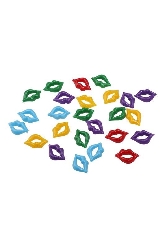 MİR PLASTİK - Amigurumi Dudak 2 cm 25 Adet   Karışık Renk