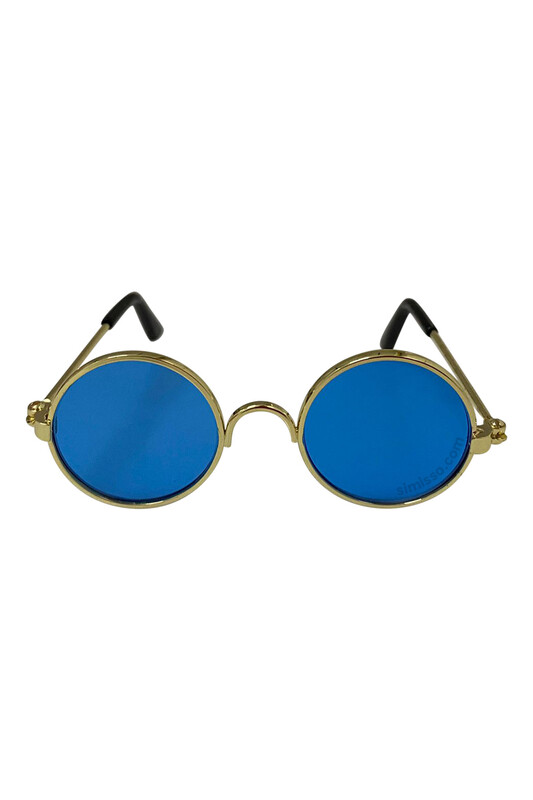 SEVİNÇ - Amigurumi Cam Gözlük Mavi