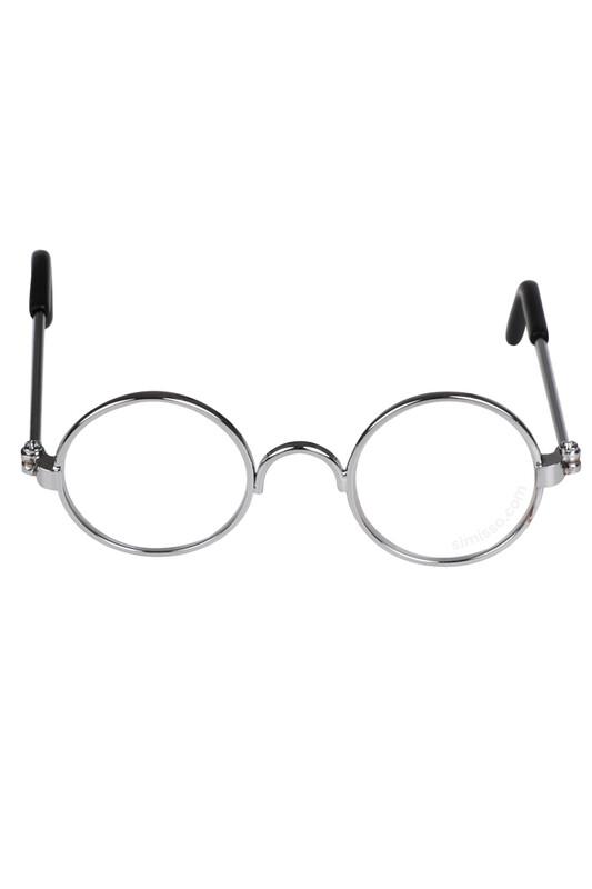 SEVİNÇ - Amigurumi Cam Gözlük Şeffaf Metal Çerçeveli