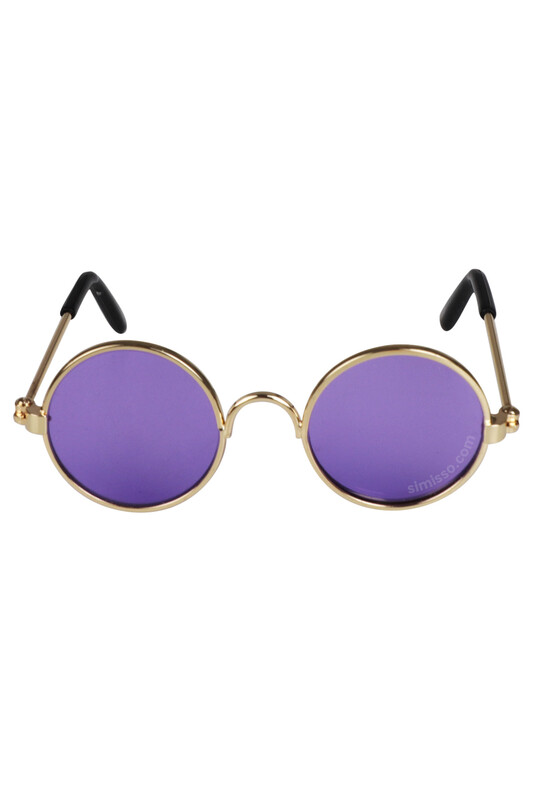 SEVİNÇ - Amigurumi Cam Gözlük Mor