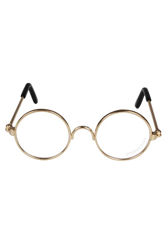 SEVİNÇ - Amigurumi Cam Gözlük Şeffaf Altın Çerçeveli