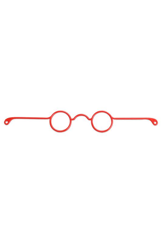 SİMİSSO - Amigurumi Gözlük 17 cm | Kırmızı