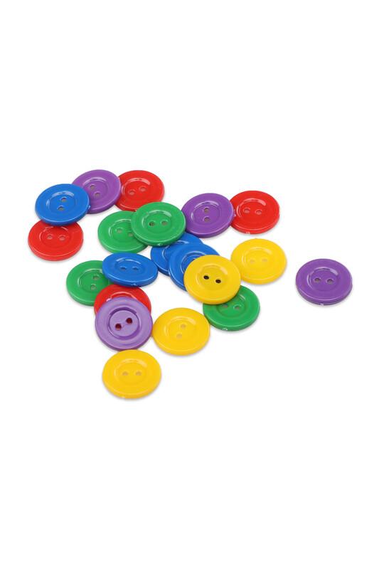 SİMİSSO - Karışık Renkli Amigurumi Düğmesi 28 Boy 17 mm 20 Adet